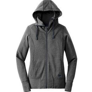 New Era Black Heather Fleece Full Zip Hoodie